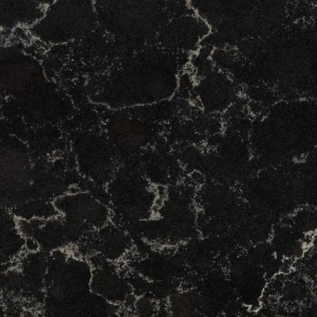 China Vanilla Noir Black Quartz Countertops Manufacturers