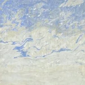 Blue Sky Clouds Marble Slab