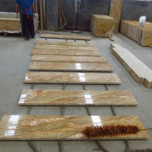 Imperial Gold Granite Stair Steps